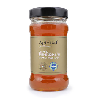 Apivital - Apivital Organik Süzme Çiçek Balı (360 gr.)